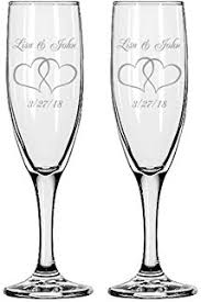 personalized glasses wedding gifts infinity 2 engraved wedding flutes