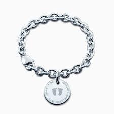 engravable sterling silver charms custom engraved sterling silver baby footprint charm bracelet