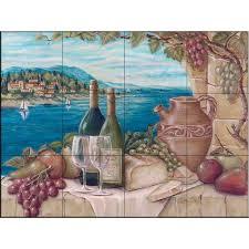 the tile mural store bella vista 24 in x 18 in ceramic mural the tile mural store bella vista 24 in x 18 in ceramic mural wall