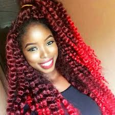 Cherry Red Hair Extensions by Crochet Braid Hairstyles Essence Com