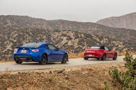 subaru sports car brz 2015 2016 mazda mx 5 miata vs 2015 subaru brz