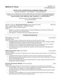 sample international resume resume samples for college students
