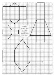 surface area of triangular prisms worksheet worksheets