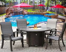 Patio Table And Chair Sets Outdoor Fire Pit Patio Set With Benches Elliot Fireplaces
