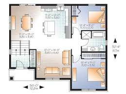 Split Level Homes Plans Small House Plans Small Split Level Home Plan Fits A Narrow Lot