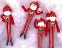 clothespin santa ornaments familycorner