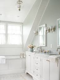 Gray And White Bathroom - bathroom sloped bathroom ceiling attic slanted ceiling bathroom