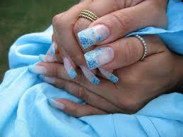 25 dramatic light blue navy blue royal blue nail designs