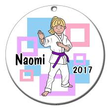 martial arts or karate kid personalized christmas ornament
