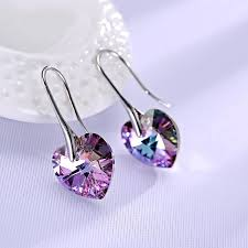 original earrings original crystals from heart pendant necklaces drop earrings jewelry