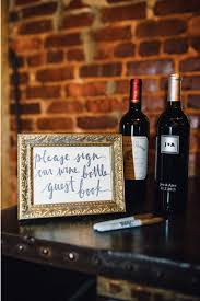 wine bottle guestbook modern wedding guest book ideas
