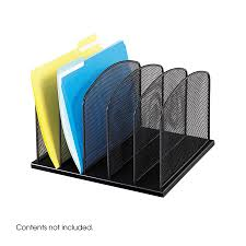 cool desk organizers onyx 5 upright sections safco products