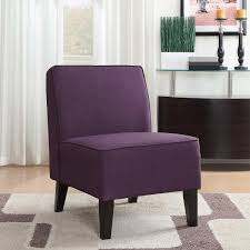 Livingroom Chair Roxbury Fabric Slipper Chair In Purple