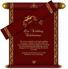 marriage card email wedding card royal scroll design 42 wedding e card