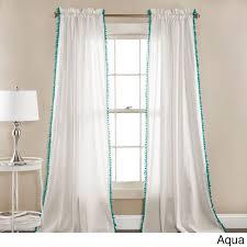 Curtains With Pom Poms Decor Lush Decor Linen Pom Pom Curtain Panel Pair 52 X 84 Pom Pom