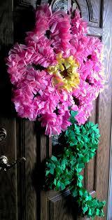 fabric flower wreath for spring diy for home decor i am a big