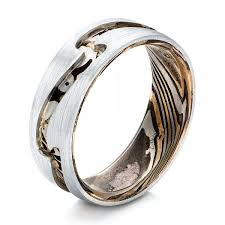 Mens Wedding Ring by Custom Men U0027s Platinum And Mokume Wedding Band 102032