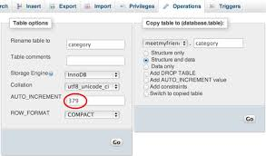 Copy Table Mysql How To Reset Auto Increment In Mysql All Php Tricks