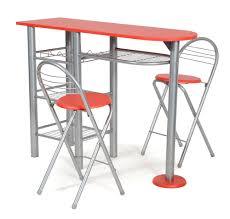 Chaises De Cuisine Rouge by Table De Bar Et 2 Chaise Rouge Alma Lestendances Fr