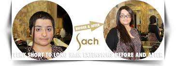 extensions on very very short hair very short to long hair extensions before and after sach vogue