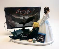 gamer cake topper wedding cake topper bat and groom gamer