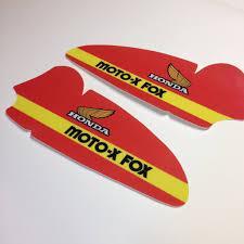 fox motocross stickers vintage roost honda 1979 cr250 moto fox tank decal sheets
