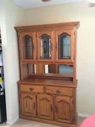Oak Storage Cabinet Beautiful Solid Oak Hutch And Buffet Storage Cabinet Display Home