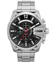 watches chronograph diesel s chronograph mega chief stainless steel bracelet