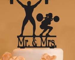 weight lifting cake topper work out cake topper etsy