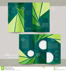 Tri Fold Program Modern Abstract Tri Fold Brochure Template Design Stock Vector