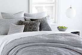 dkny city pleat grey bedding collection