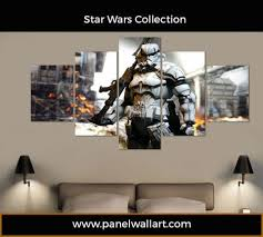 black friday canvas prints star wars storm trooper 5 panel canvas wall art panelwallart