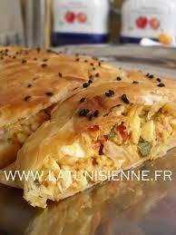 cuisine tunisienne pate au thon feuilleté à la tunisienne