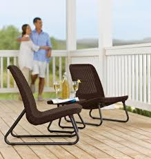 Patio Set Furniture by Keter Rio 3 Pc All Weather Outdoor Patio Garden Conversation Chair