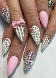25 fantastic nail art ideas with rhinestones u2013 slybury com