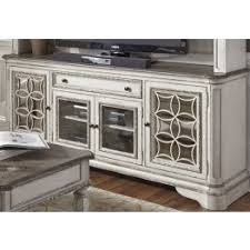 magnolia manor antique white entertainment tv stand from liberty