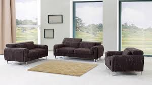 amusing modern living room furniture design with dark brown sofa