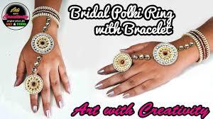 bridal ring bracelet images Bridal polki ring with bracelet made up of paper art with jpg