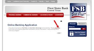first state bank central texas online banking login cc bank