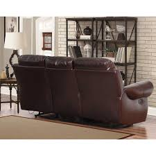 Reclinable Sofa Abbyson Broadway Top Grain Leather Reclining 3 Living Room