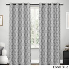 108 In Blackout Curtains by Ati Home Electra Scalloped Jacquard Linen With Woven Blackout