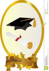 graduation cap frame class of graduation frame stock vector illustration of album