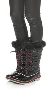 sorel tofino s boots canada sorel tofino quilted water resistant boots in black lyst