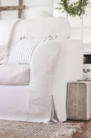 White Slipcovered Sofa Ikea Tips Slipcover For Leather Sofa Slipcovered Sofas Slipcovers Sofa