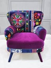 Suzani Fabric Chair Patchwork Armchairs Foter