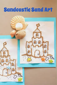 makingmamamagic sandcastle sand art kid crafts pinterest