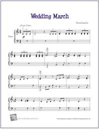 wedding march wedding march mendelssohn sheet for easy piano http