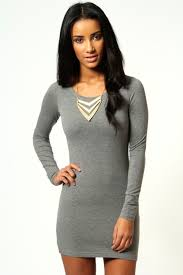 grey bodycon dress camille sleeve jersey bodycon dress bodycon dress boohoo