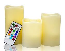 3 candle electric light 3 flameless electric candles real wax no flame led tea light