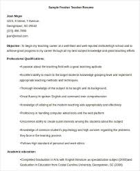Resume Samples For Teaching by Teacher Resume Sample 28 Free Word Pdf Documents Download